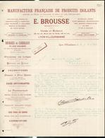 """Courrier """" Manufacture Française De Produits Isolants - Brousse à Villeurbanne """" - 2 Juin 1900 - France"""