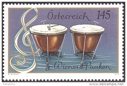 AUSTRIA ÖSTERREICH 2015 Musikinstrumente - Wiener Pauken  MNH / ** / POSTFRISCH - 1945-.... 2ème République