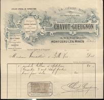 """Courrier """" Bijouterie Orfévrerie Chavot Gueugnon - A La Gerbe D' Or - Montceau Les Mines """" - 4 Juin 1905 - France"""