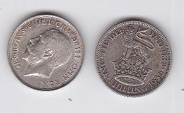 2 Pièces GEORGES V - ONE SHILLING  (1918-1936) - Inde