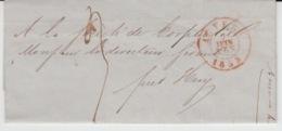 BELGIUM USED COVER 07/06/1853 ANVERS HUY EXPOSITION UNIVERSELLE L'INDUDTRIE DE TOUTES LES NATIONS - 1830-1849 (Belgique Indépendante)