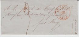 BELGIUM USED COVER 07/06/1853 ANVERS HUY EXPOSITION UNIVERSELLE L'INDUDTRIE DE TOUTES LES NATIONS - 1830-1849 (Onafhankelijk België)
