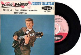 EP JOHNNY HALLYDAY - VOGUE EPL 7834/7824 - 1961 - RARE ERREUR POCHETTE - VOIR DESCRIPTION - - 45 T - Maxi-Single