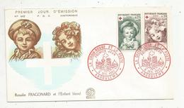 Premier Jour , FDC , Croix Rouge Et La Poste ,1962 , ANGOULEME , Rosalie FRAGONARD Et L'enfant Blond - FDC