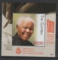 Gambie Gambia 2018 Mi. ? S/S Joint Issue PAN African Postal Union Nelson Mandela Madiba 100 Years - Gambie (1965-...)