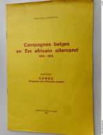 Campagnes Belges En Est Africain Allemand 1916-1918 Auteur Abbé Gaston Gudenkauf - Filatelia E Historia De Correos