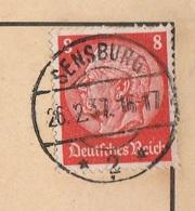 Ostpreussen Deutsches Reich Karte Mit Tagesstempel Sensburg * 2 * RB Allenstein 1937 - Germania