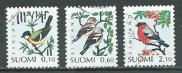 Finlande YT N°1100/1102 Oiseaux Familiers Oblitéré ° - Finlande