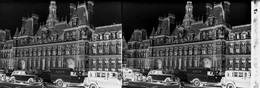3 Plaques Stéréoscopiques De Verre Paris Avec Automobiles Anciennes - Glasplaten