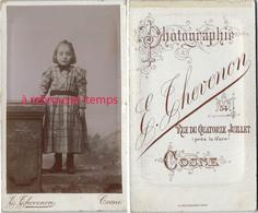 CDV Jolie Fillette-photo Thevenon à Cosne - Photographs