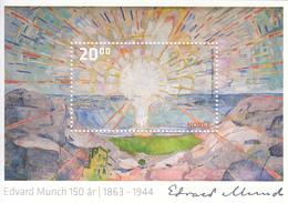 2013 Norge Norway Edvard Munch  Souvenir Sheet Complete  MNH @ BELOW FACE VALUE - Sonstige