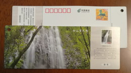 Forst Waterfall,China 2014 Baishan Wangtiane National Nature Reserve Ticket Advertising Pre-stamped Card - Holidays & Tourism