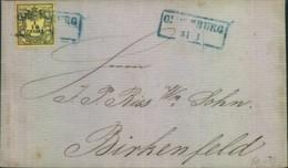 1860, Kompletter Faltbrief Mit 1/10 Thaler Ab OLDENBURG - Mi-Nr. 4 - Oldenburg