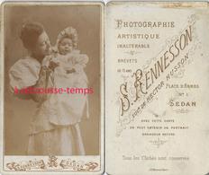 CDV Maman Et Son Bébé Endimanchés-jour De Baptême? Photo Rennesson à Sedan - Photographs