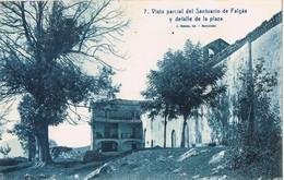34834. Postal POBLA DE LILLET (Barcelona). Santuario De FALGÁS O Falgars.  Detalle De La Plaza - Barcelona
