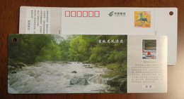 Jioahe River Stream Rafting,China 2014 Longfeng Village Tourism Resort Ticket Advertising Pre-stamped Card - Holidays & Tourism