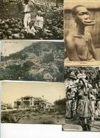 Arique 16 Cp Soudan, Senegal, Conakr, Dahomey, Volta, Cote D'ivoire, AOF 9 Circulées Timbres, Tampons. - Ansichtskarten