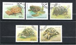 AZERBAÏDJAN  Y & T N°  215/219  Faune Les Tortues - Azerbaïdjan