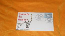 ENVELOPPE FDC DE 1977../ JOURNEE DU TIMBRE RELAIS DE POSTE EN ALSACE..CACHETS 90 BELFORT + TIMBRE - FDC