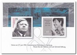 Duitsland 2019, Postfris MNH, Helmut Schmidt & Hannelore Schmidt - [7] West-Duitsland