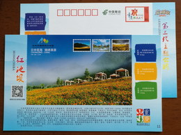 Waterfall,China 2014 Chongqing Hongchiba National Forest Park Tourism Annual Ticket Advertising Pre-stamped Card - Holidays & Tourism