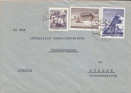 Austria WIEN 1962 Cover Brief Verkehrsbüro LUZERN Schweiz Rechnungshof Sonnblick Observatorium - 1945-.... 2. Republik