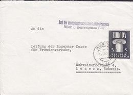 Austria AMT Der NÖ. LANDESREGIERUNG, Hofrat Dr. J. SCHMIDL, WIEN 1960? Cover Brief  LUZERN Schweiz Europa CEPT - 1945-.... 2. Republik
