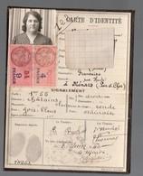 Ménars (41 Loir Et Cher) Carte D'identité 1940 (PPP21170) - Vieux Papiers