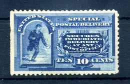 1888 STATI UNITI Espresso Expres 10 Cents (*) Azzurro Blu Without Gum (Unificato E2, Yvert E4, Scott E2) - 1847-99 General Issues