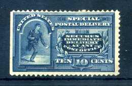 1895 STATI UNITI Espresso Expres 10 Cents * Azzurro Blu (Unificato E5, Yvert E7, Scott E5) - 1847-99 General Issues