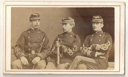 Cdv - 3 Soldat Militaire De La Guerre 1870 - Weltkrieg 1914-18