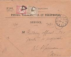 1927 - Lettre Taxe Recouvrement 90 Centimes - Postmark Collection (Covers)