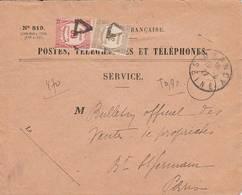 1927 - Lettre Taxe Recouvrement 90 Centimes - Marcofilia (sobres)