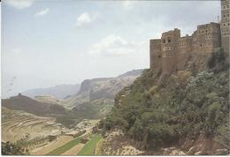 Jemen Yemen - View Of Landscape And Town Of Al Hajjarah - - Jemen
