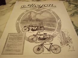 ANCIENNE PUBLICITE MOTOCYCLETTE  ALCYON 1923 - Motor Bikes