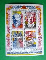Feuillet  N°12 -  Bicentenaire De La Revolution - Blocks & Kleinbögen