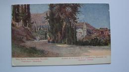 GRECIA POST CARD FROM GASTOURI CORFÙ CORFOU  FORMATO PICCOLO - Grecia
