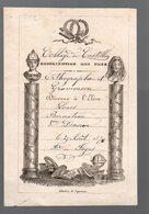 Castillon Sur Dordogne (33 Gironde) Prix D'ortographe Et Grammaire Au Collège De Castillon 1870 (PPP21174) - Diplomas Y Calificaciones Escolares