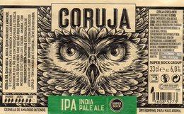 Etiquette De Bière Coruja Super Bock Portugal - Bier