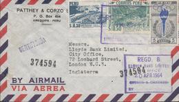 3452    Carta  Aérea   Certificada Arequipa 1964, Peru - Pérou