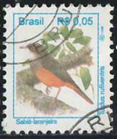 Brésil 1994 Yv. N°2202 - Turdus Rufiventris - Oblitéré - Brazilië