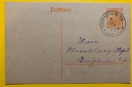 9478 -  Entier Postal 7 1/2 Pf Orange Kircheim (Neckar) 09.10.1918 - Deutschland