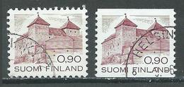 Finlande YT N°855-855a Chateau De Hame Oblitéré ° - Used Stamps