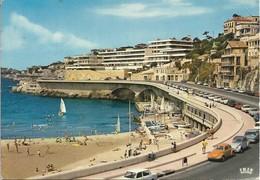 13. MARSEILLE. LA CORNICHE. L'ANSE DU PROPHETE. VOITURES ANCIENNES (2CV, COCCINELLE). 1977. - Endoume, Roucas, Corniche, Plages