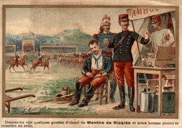 CHROMO ALCOOL DE MENTHE DE RICQLES DONNEZ-LUI VITE QUELQUES GOUTTES D'ALCOOL DE MENTHE DE RICQLES... - Cromo