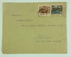 Pologne, Poland - 1924 Cover Warszawa --> Lyon, France, Fr. 550 000 Mk, Hyperinflation Period, International Machine Can - Cartas