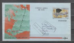 ESPAÑA. Aerograma 1982. Nº203. Circulado - 1931-....