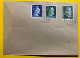 9482 - Hitler 7 Timbres Sur 2 Enveloppes Non Circulées Bischweiler Alsace 05.01.1944 - Briefe U. Dokumente