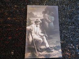 Rêverie, Homme En Costume Blanc Pensant à Son Couple, 1911    (H8) - Couples