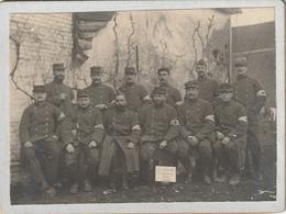 Photo 110 Mm X 80 Mm Sur Carton - Chorale Militaire 13e RGT - 1914-1918 - Infirmiers -Scan R/V - War, Military